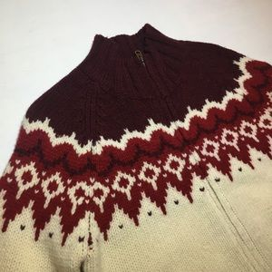 Abercrombie & Fitch Lambswool Zippered Cardigan